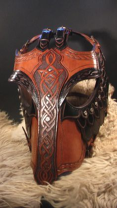 The black horse armor by Zoltán Koszta, via Behance