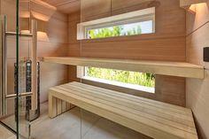 Sauna by VSB Wellness - DekorationWorld Modern Saunas, Sauna Design, Dream Shower, Sauna Room, Spa Rooms, Infrared Sauna, Steam Room, Bunk Beds, Stairs