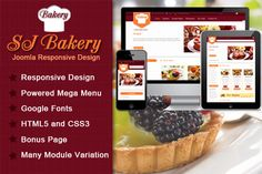 Check out SJ Bakery - Best template for food by MagenTech on Creative Market