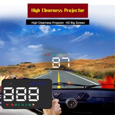 Hot Selling Car HUD Vehicle-Mounted Head Up Display New Upgrad Car Driving Device Portable Mini HUD Display Free Ship