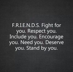 I like this a lot!  I need more of these  f.r.i.e.n.d.s. in my life. Hard to come by.