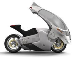 I WANT THIS - Crossbow motorcycle, an all electric motorcycle that doesn't require its rider to wear a helmet. This is an extreme all weather electric motorbike that features a canopy cover like a shield to protect its rider from any danger, it offers the next level of safety for motorcyclists. This automatic canopy has been beautifully designed based on the riding position, in this way, the rider's legs are still free to maintain stability and have full control at low speeds.