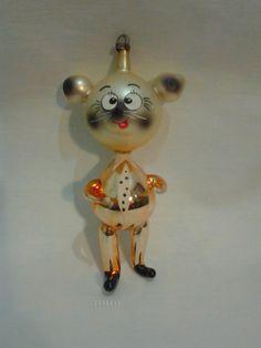 Vintage Italian Christmas Ornament. Mouse.