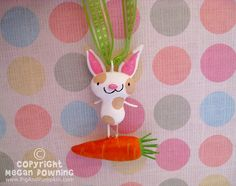 Ornament  Barney the Bunny  Orignal Easter by PigAndPumpkin
