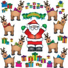 Santa N Reindeer Bulletin Board Set