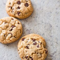 "YUM--""gourmet shop style"" Thick and Chewy Chocolate Chip Cookies - Cook's Country (link to the recipe on the web site and also published in the April/May 2014 issue of the magazine)."