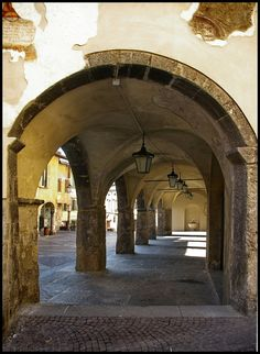 Gli archi di Clusone, Lombardia, Italy - by Dottor Topy