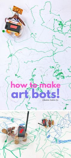This easy electronics project for kids is the perfect STEAM activity. Learn how to make your own Boogie Bot! The frame can also be used for an art bot. Art Activities For Toddlers, Creative Activities For Kids, Fun Crafts For Kids, Stem Activities, Creative Kids, Projects For Kids, Art For Kids, Kids Diy, School Projects