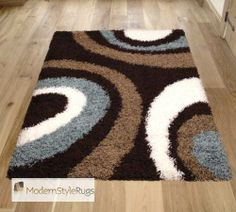 Vista OC11 Brown Blue Rug - Buy Online - Free UK Delivery