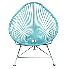 The Baby Acapulco Chair - Blue Weave is the perfect modern piece of furniture for any space