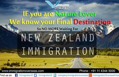 With Immigration Overseas the process of New Zealand immigration is greatly simplified. The firm with around 22 years of experience in the migration domain is offering explicit New Zealand immigration services, including visa and migration services to the clients.