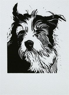 Peter Polaine, woodcut, 'Geoff'