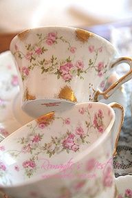 Teacups!  Someone send help - I cannot stop collecting rosebuds! LOL!!