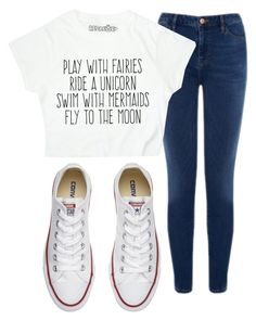 """""""Lazy Day"""" by leo-lover ❤ liked on Polyvore featuring Warehouse and Converse"""