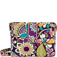 Vera Bradley Tablet Hipster in New Print Plum Crazy- Crossbody bag that holds an iPad #giftsforher