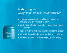 Aquage texturizing wax.... smells awesome, good for all hair lengths. By far my all time favorite hair product!
