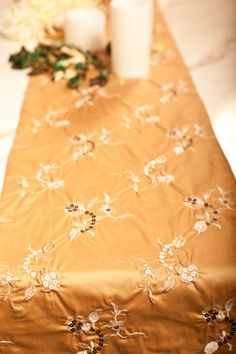 Floating Camellia/ table runner The idea behind this collection was born from exploring the fashion and clothes style during the Song Dynasty period. The Camellia is ever symbolic of beauty, grandeur, and a charming purity. #chinfea #ss15 #camellia #homedecor #tablerunner #tan #london