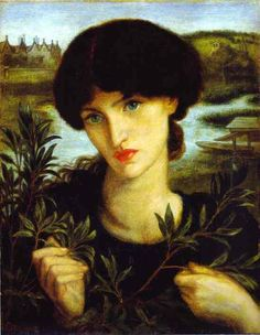 Dante Gabriel RossettiWater Willow, 1871, oil on canvas, 33 x 26.7 cm, Delaware Art Museum, USA. Dante Gabriel Rossetti was an English poet, illustrator, painter and translator. He founded the Pre-Raphaelite Brotherhood in 1848 with William Holman Hunt and John Everett Millais