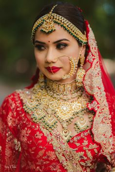 Indian Bridal Photos, Indian Bridal Outfits, Indian Bridal Fashion, Indian Bridal Wear, Bridal Makeup Images, Best Bridal Makeup, Bridal Makeup Looks, Bridal Makup, Indian Wedding Couple Photography