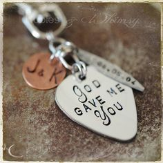 Hey, I found this really awesome Etsy listing at https://www.etsy.com/listing/161767242/god-gave-me-you-personalized-guitar-pick