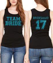 """Team Bride"" Tank Top with Optional Back Design"