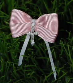 Items similar to Ballerina Pink Bow Martyrika Witness Pin on Etsy Baptism Candle, Baptism Gifts, Baptism Ideas, Greek Wedding Traditions, Baby Girl Cakes, Christening Party, Baby Party, New Baby Gifts, Hair Pieces