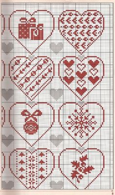 Thrilling Designing Your Own Cross Stitch Embroidery Patterns Ideas. Exhilarating Designing Your Own Cross Stitch Embroidery Patterns Ideas. Xmas Cross Stitch, Cross Stitch Heart, Cross Stitching, Christmas Hearts, Christmas Cross, Christmas Ornaments, Embroidery Hearts, Cross Stitch Embroidery, Embroidery Patterns