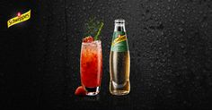 Red & Green Ale: Muddle 5 strawberries and thyme leaves & build on crushed ice, little stir. Top off with Schweppes Ginger Ale on