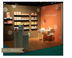Love the colors, the modern flair, here's another source of inspiration for booth design