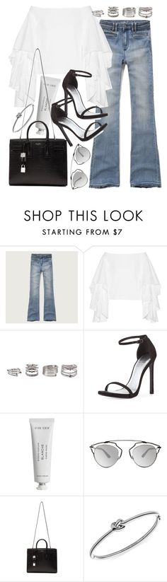 """""""Untitled #19628"""" by florencia95 ❤ liked on Polyvore featuring Abercrombie & Fitch, Rosie Assoulin, Forever 21, Stuart Weitzman, Byredo, Christian Dior, Yves Saint Laurent and Michael Kors"""
