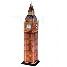 Big Ben is the nickname for the great bell of the clock in the clock tower of the Palace of Westminster. This cardboard model is fun and simple for all ages to build. Cardboard Model, Big Ben London, Gifted Education, Westminster, Gift Ideas, Building, Fun, Buildings, Funny