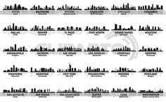 Skylines of the biggest cities. I love this. Great ideas for tattoos