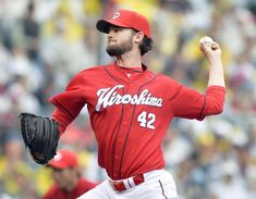 Red Rising: Kris Johnson is off to an undefeated start for the Carp through his first seven outings in Japan.