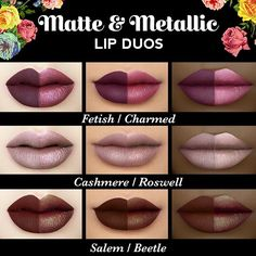 Makeup List, Lip Makeup, Makeup Cosmetics, Lipstick Set, Lipstick Colors, Lip Colors, Makeup Swatches, Lipstick Swatches, Lipstick Collection