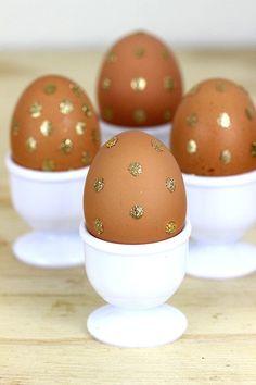 Polka Dot Glitter Eggs