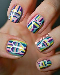 Striped hearts on stripes