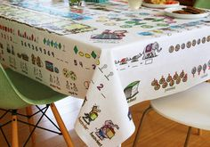 Mostly Math Educational Tablecloth | Pre-K and K level – Table-Time Look & Learn