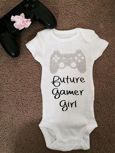 Future Gamer Girl Gamer Baby Onesie Bodysuit by BlueReefShoppe