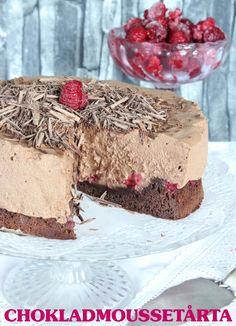 Chokladmoussetårta med hallon | Tidningen Hembakat