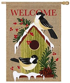 Evergreen Burlap Home Sweet Holiday Home House Flag 28 x 44 inches ** You can get more details by clicking on the image.