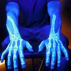 #tattoo #glowinthedark #bones Bones, Tattoos, Artist, Fashion, Tatuajes, Moda, La Mode, Tattoo, Artists