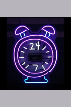 A custom neon sign made by Jantec Neon Products! #timer #clock #decor #decorations #interiordesign #designideas #design #time #alarm #purple #neon #neonsign #neonsigns #jantec #jantecneon #art  _ www.jantecneon.com