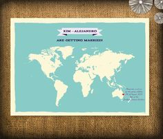 World Map Wedding Invitations.10 Best Map Inspired Wedding Invitations Images Invitations