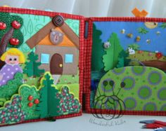 quiet book Dollhouse Fairy Doll of felt Busy book by WondefulKids