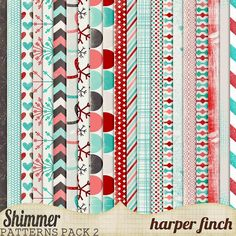 "Shimmer, Pattern Paper Pack Two by harperfinch (bouton ""download"" à droite de l'image)"