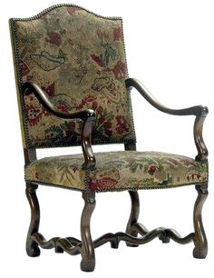 A PAIR OF FRANCO-FLEMISH CARVED WALNUT ARMCHAIRS CA 1700 each with a ...