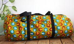 Grand sac de sport forme polochon en wax par DiamRek sur Etsy