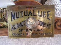 Brass Banker's Sign Right Out of The Great Wall by RinersAntiques, $450.00   etsy