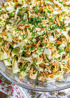 Sweet, tangy, crunchy Asian Ramen Noodle Salad is a great side dish for summer potlucks, barbecues, or to serve with your dinner any day of the week. I served this salad with Balsamic Dijon Glazed Asian Ramen Noodle Salad, Best Ramen Noodles, Ramen Noodle Recipes, Ramen Cabbage Salad, Roman Noodle Salad, Asian Slaw With Ramen Noodles, Crunchy Noodle Salad, Raman Noodles, Crunchy Asian Salad