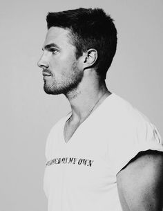 stephen amell. It technically is a white shirt